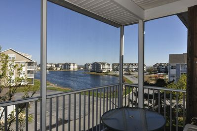 Back deck with an open view catches the bay breezes