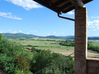 Photo for On the Via Francigena large two-story apartment with garden