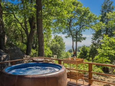 Photo for Palomar Mountain View Cabin with Hot Tub Under the Stars