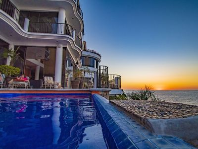 Photo for Luxury Ocean Front Villa, Infinity Pool, Intl Chef, Staff, Jaccuzzi & Elevator