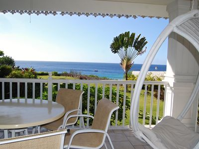 Photo for Oceanfront Condo With Sea Views, Centrally Located, on Sandy Beach