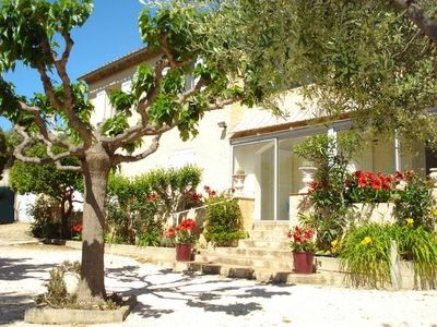 Photo for Large ground floor of a villa in the village, near the sea