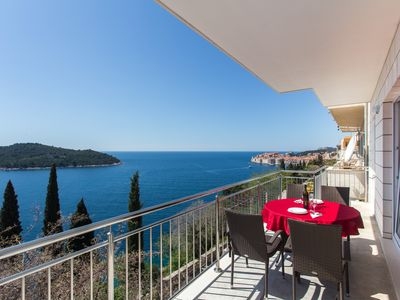 Photo for Perfect view on the Old Town of Dubrovnik and Sea View in Bedrooms with Balcony