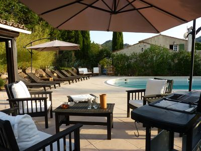 Photo for PROMO !!  last available ;-) between CANNES / FREJUS, natural park of ESTEREL, BEAUTIFUL VILLA PROVENCAL CHARM 220 m2 / 2500m2, SWIMMING POOL 12m & KITCHEN D ETE top equipped