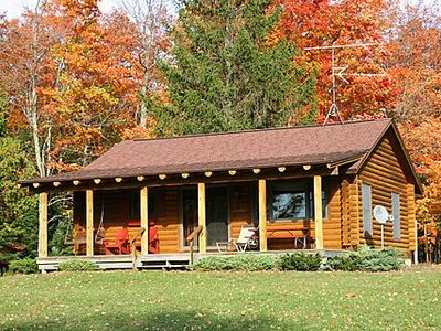 Photo for CUTE LOG CABIN WITH SHARED FRONTAGE ON TORCH LAKE