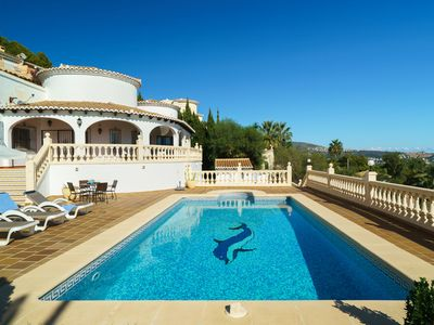 Photo for This 3-bedroom villa for up to 9 guests is located in Moraira and has a private swimming pool, air-c