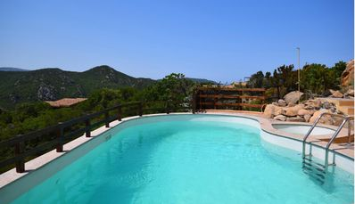 Photo for Costa Paradiso apartment sleeps 6 with exclusive use of the pool