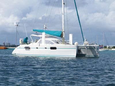 Photo for Discover Belize on your private crewed luxury 43 Ft catamaran