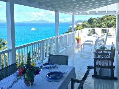 Veranda Looking Down Island to Tortola & St John