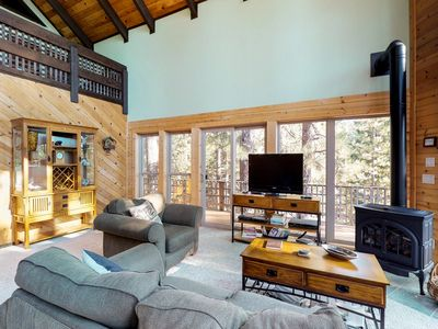Photo for Chalet with stunning forest views and seasonal access to private lake