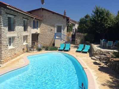 Photo for 3 BEDROOM, PRIVATE HEATED POOL, SECLUDED DETACHED VILLA, CHARENTE, FRANCE