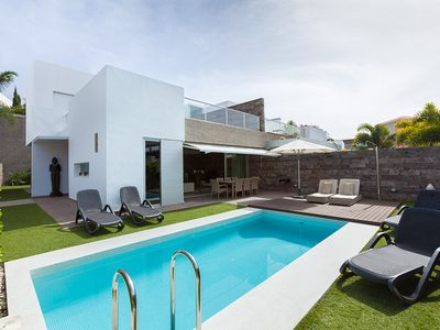 Photo for LUXURY VILLA 5 * 150 m from the beach and Private pool heated