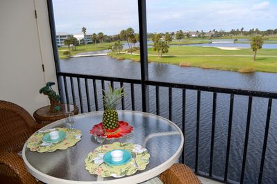 View from our Lani  great for breakfast, lunch Please look at our seasonal rates