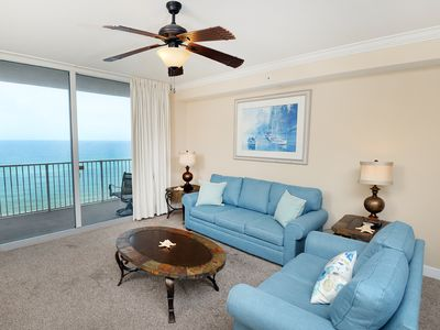 Photo for Warm, welcoming condo ! Incredible gulf-front views! Free Wi-Fi. Starbucks on-site!