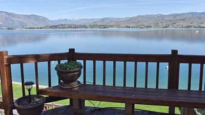 View of Lake Chelan from the deck of this condo