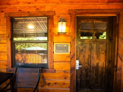 Photo for Waterfront Log Cabin #15 2-Bdrm/2-Bath