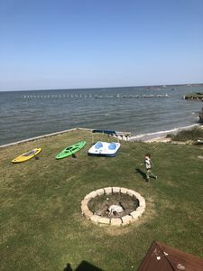 Use of two paddle boards and a paddle boat. Launch from the beach area.