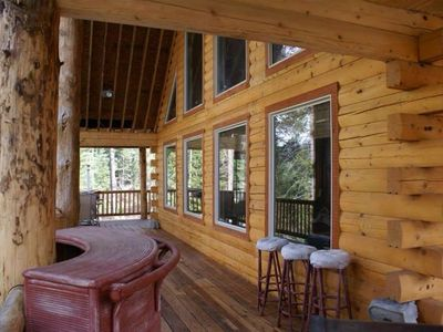 Photo for Log Cabin Golf Course Front-Terrace Lakes, gorgeous wrap around deck with views