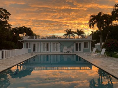 "Photo for Private Guest House, ""Key West Style"",  3 Bedrooms,     Tennis/Basketball Court"