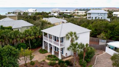 Photo for 'SHIPLAP HOUSE' A Beach House with Southern Charm * Steps from pool/Minutes to Beach! 4BR