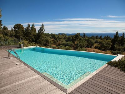 Photo for Super luxurious maisonette with a private swimming pool and amazing view to the sunset