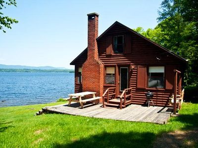 Photo for Very private, rustic cottage on 400 feet of Rangeley Lake frontage
