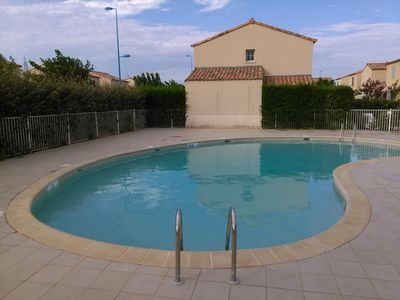 Photo for villa with swimming pool 3 minutes walk from the beach with wiffi parking 4p