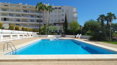 Photo for Altea, duplex penthouse, located in first line of sea, large terrace, airco