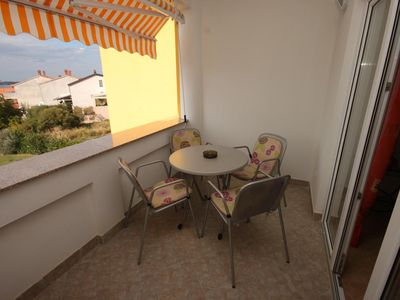 Photo for One bedroom apartment with terrace and sea view Štinjan, Pula (A-7423-b)