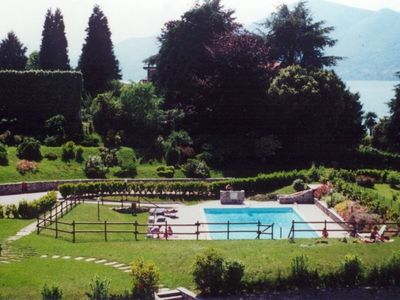 Photo for Farfalla 3  in a beautiful residence with pool in Germignaga