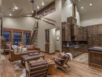 Photo for Luxury private home w/ hot tub, steps from Main St. (sleeps 14)