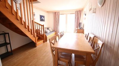 Photo for Wifi, view ski slopes, terrace, balcony, parking, tv, 42m², Puy-Saint-Vincent