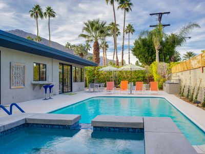 Photo for New Listing! Stylish Mid-Century Getaway w/ Heated Pool & Hot Tub