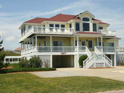 Photo for #483: Partial OCEANVIEW Corolla w/HtdPool, HotTub, Elev, RecRm & ThtreRm