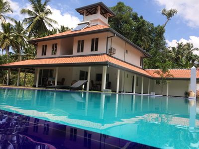 Photo for paradise to stay with 12000sqm garden with swimming pool in anuhas airport villa