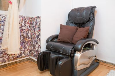 Room with massage chair