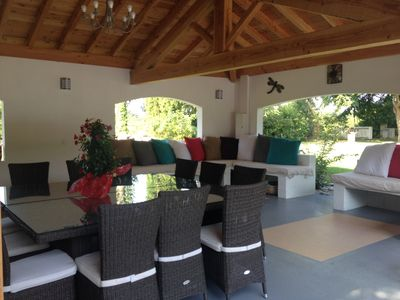 Photo for Cottage with pool, pool house and views of the Pyrenees