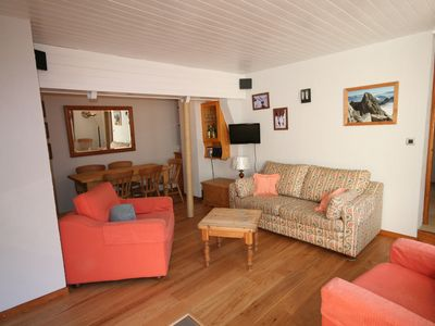 Photo for Beautiful apartment with WIFI close to the slopes in Le Tour, Chaminix