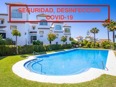 Photo for Sea view, WiFi & Park. Urbanization with doorman, near the beach and Golf