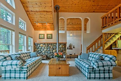 The cabin of your dreams is right here at this 2-bed, 2-bath home!