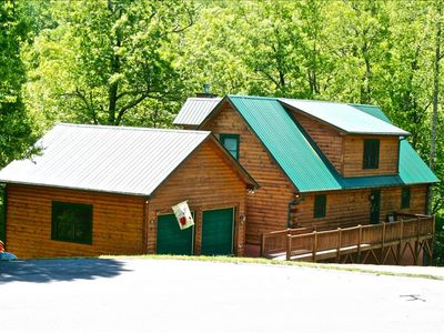Photo for OWLS ROOST-5 BR, 3.5 Bath Private Log Home in Gated Preserve-Sleeps 14