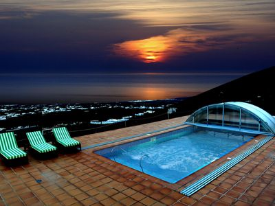 Photo for Holiday Home Roque del Oeste with Fantastic Sea View, Pool, Whirlpool & Wi-Fi; Pets Allowed upon Request