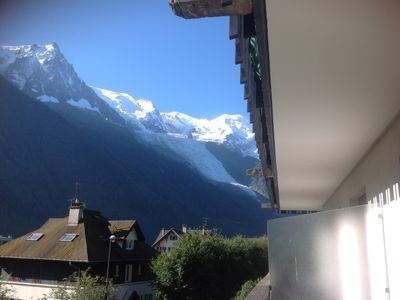 Photo for Luxury 2 bedroom apartment in central Chamonix by lift with Mont Blanc view