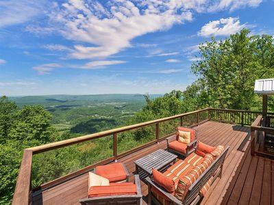 Photo for SCENIC VIEW, Peach Bluff House, On The Bluff of Lookout Mountain.  50% Down To Reserve.