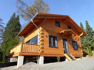 "Photo for 5 star log cabins with sauna + fireplace in Alpen - Chalet - Style, Comfort ""Hütte"""