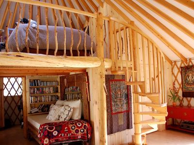 Photo for Experience living off the grid in a luxurious yurt with all the comforts of home