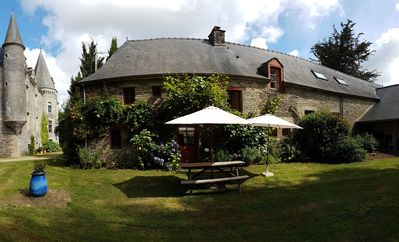 Photo for Farmhouse in the outbuildings of a castle, in a 6-acre landscaped park with pool