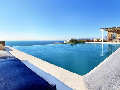 Photo for luxury Villa with shared swimming pool unforgettable view of the Aegean Sea