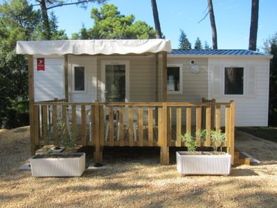 Photo for Mobilhome Sauge Plus --- Camping Pinède in Provence
