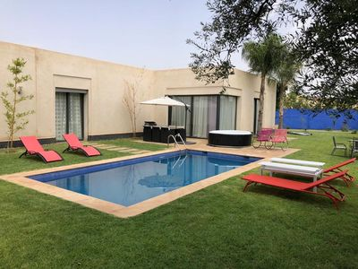 Photo for very nice cozy villa with swimming pool not overlooked by halal holidays